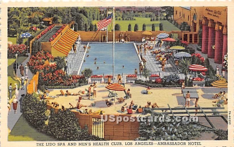 The Lido Spa & Men's Health Club - Los Angeles, California CA Postcard
