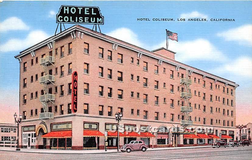 Hotel Coliseum - Los Angeles, California CA Postcard