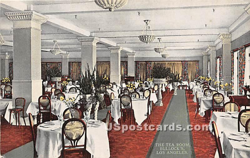 Tea Room, Bullock's - Los Angeles, California CA Postcard