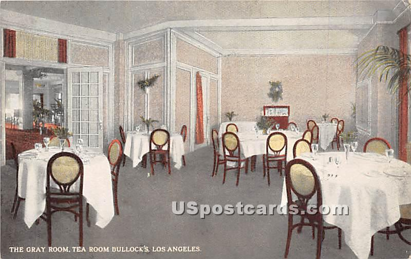 Gray Room, Tea Room Bullock's - Los Angeles, California CA Postcard