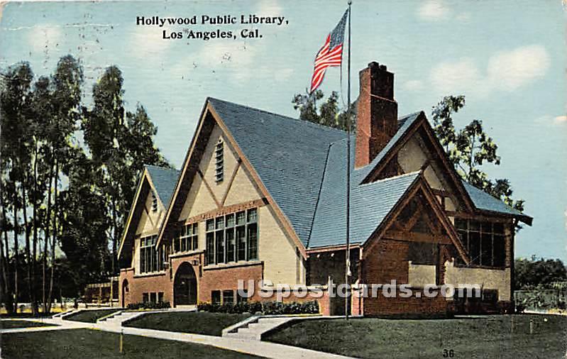 Hollywood Public Library - Los Angeles, California CA Postcard