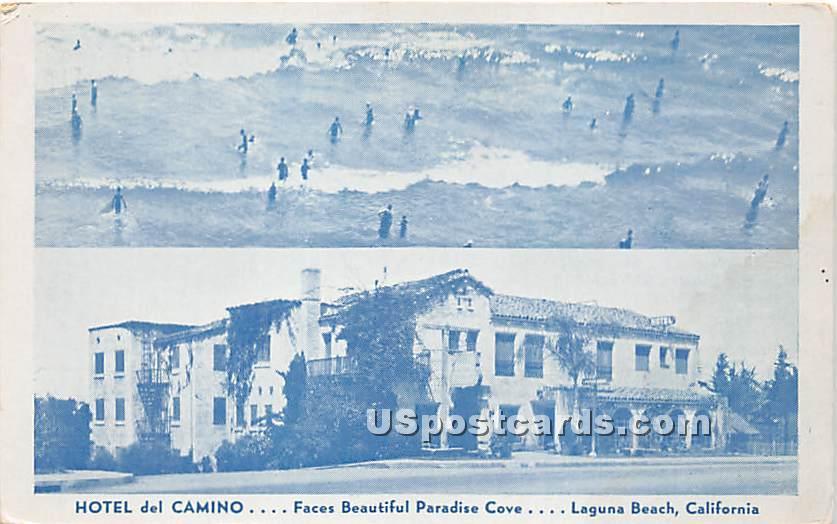 Hotel Del Camino - Laguna Beach, California CA Postcard