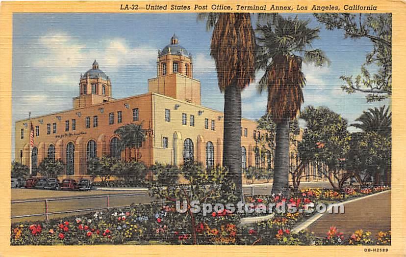 United States Post Office - Los Angeles, California CA Postcard
