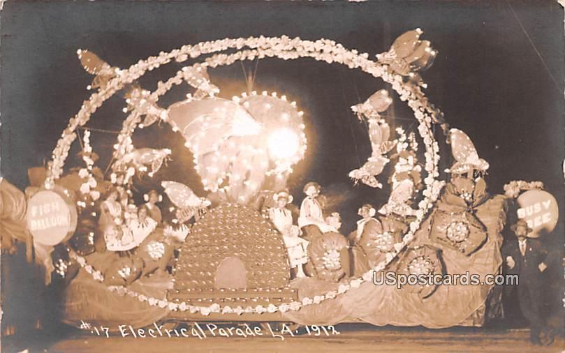 Electrical Parade - Los Angeles, California CA Postcard