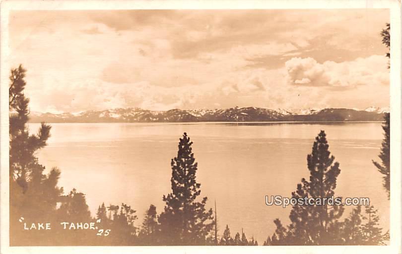 Birds Eye View - Lake Tahoe, California CA Postcard