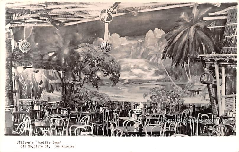 Clifton's Pacific Seas - Los Angeles, California CA Postcard