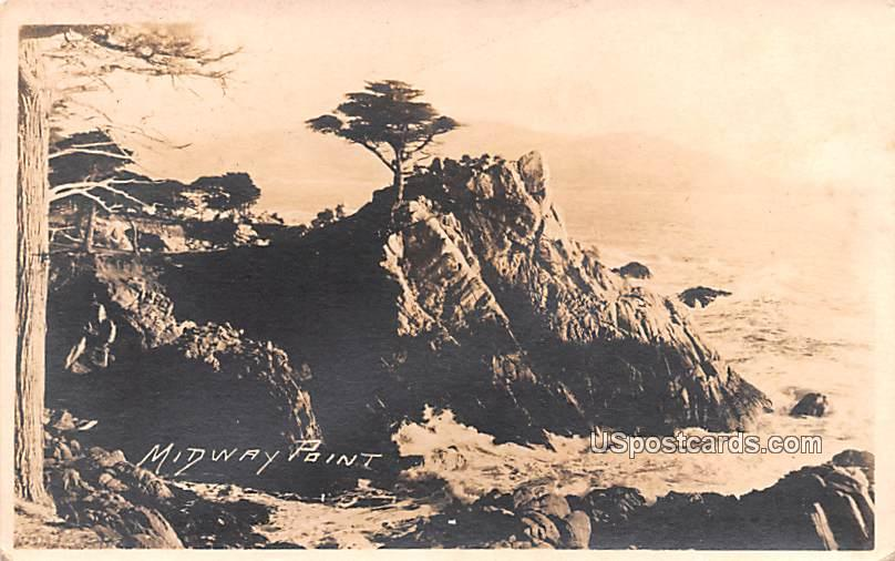 Midway Point - Los Angeles, California CA Postcard