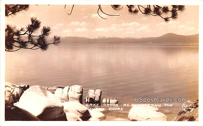 Seen from the Nevada Shore - Lake Tahoe, California CA Postcard