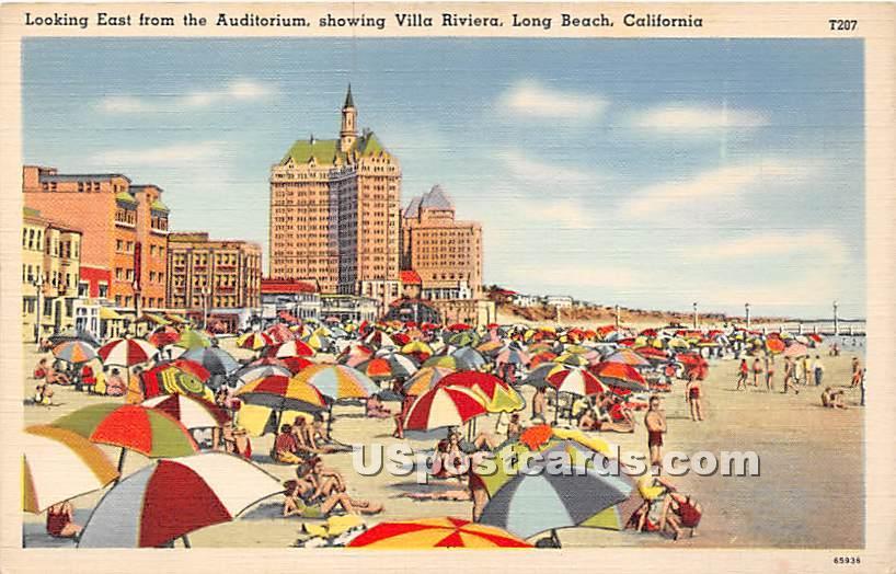 Auditorium, Villa Riviera - Long Beach, California CA Postcard