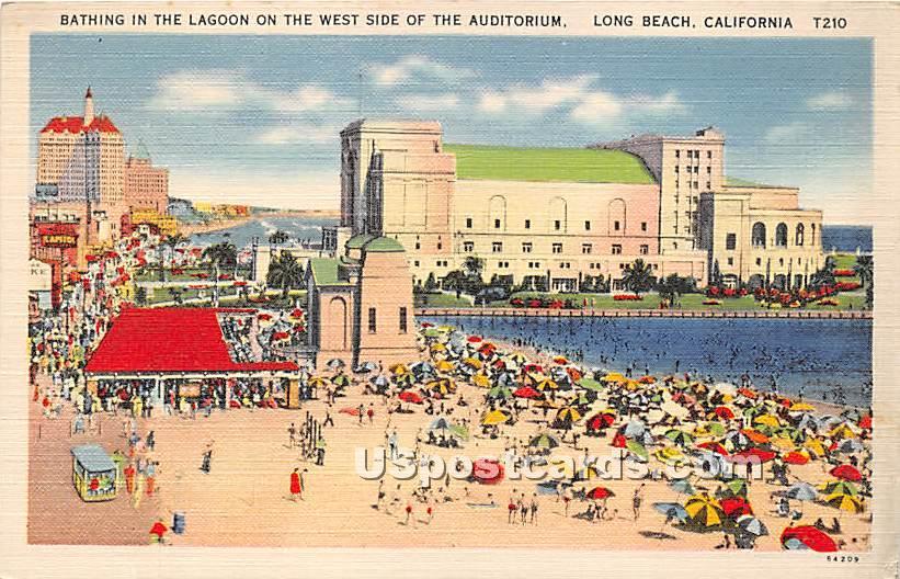Auditorium - Long Beach, California CA Postcard