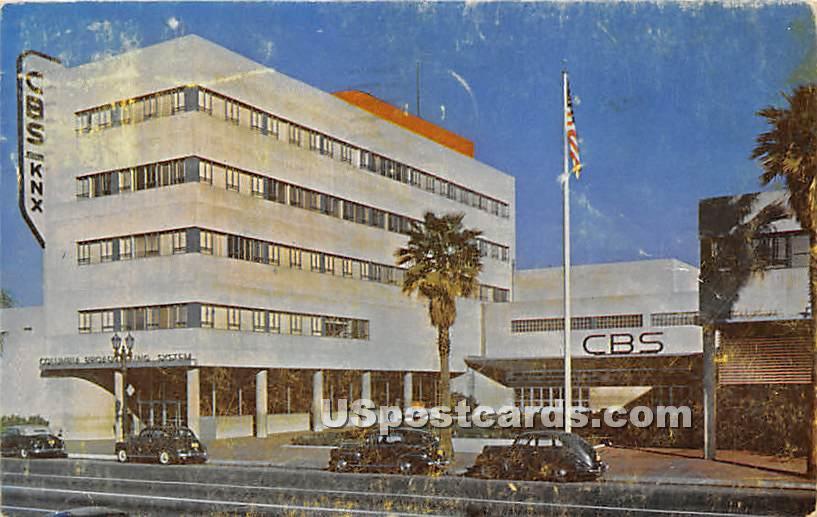 CBS Station - Los Angeles, California CA Postcard
