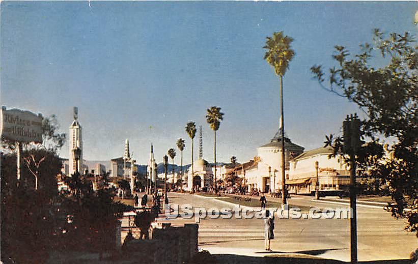Westwood Village - Los Angeles, California CA Postcard