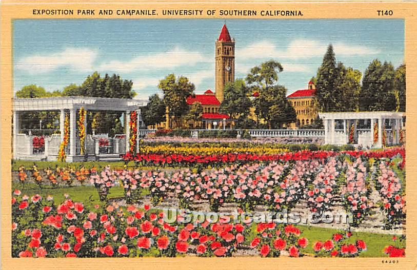 Exposition Park & Campanile, University of Southern California - Los Angeles Postcard