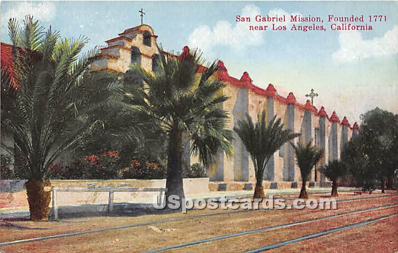 San Gabriel Mission 1771 - Los Angeles, California CA Postcard