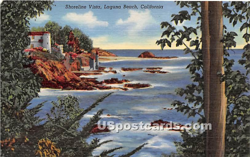 Shoreline Vista - Laguna Beach, California CA Postcard