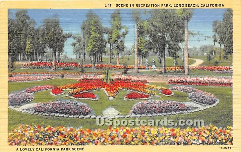 Recreation Park - Long Beach, California CA Postcard