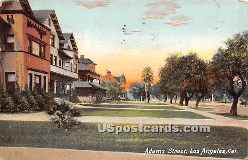 Adams Street - Los Angeles, California CA Postcard