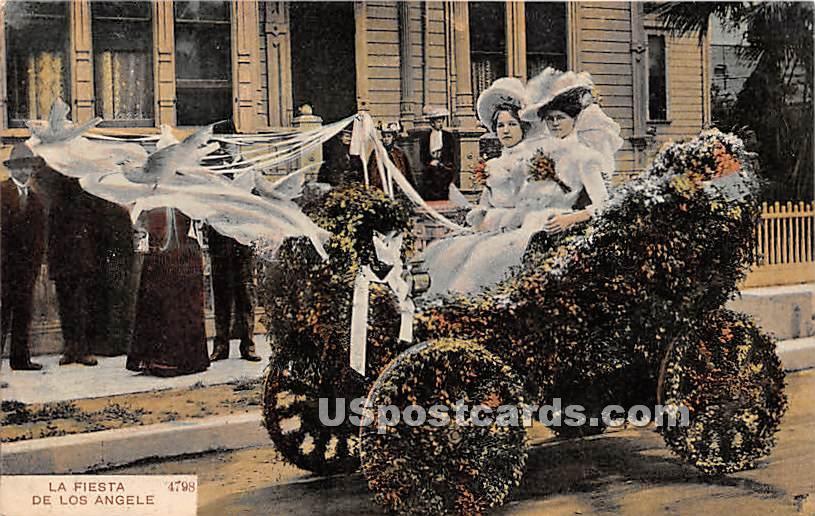 La Fiesta - Los Angeles, California CA Postcard