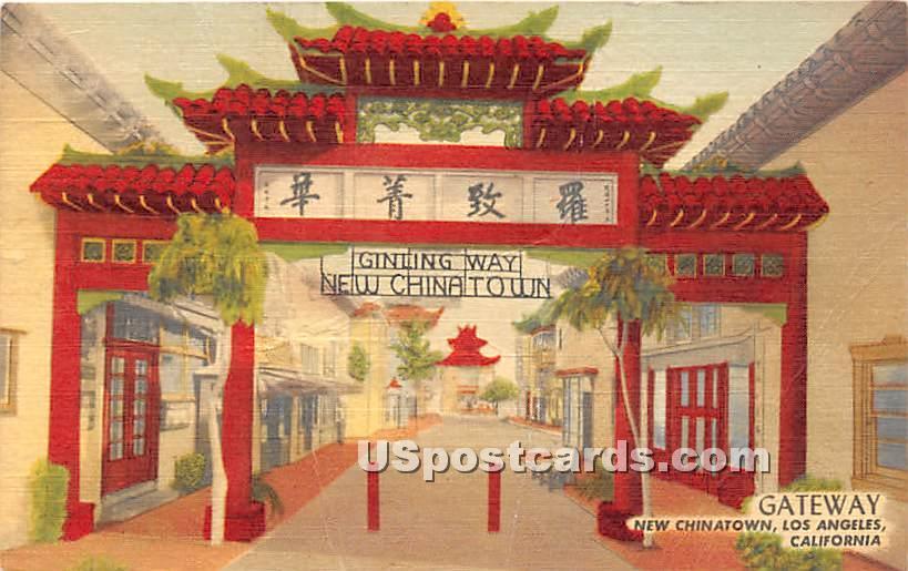 Gateway, New Chinatown - Los Angeles, California CA Postcard