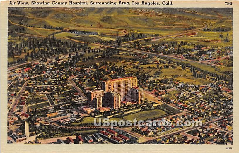 County Hospital - Los Angeles, California CA Postcard