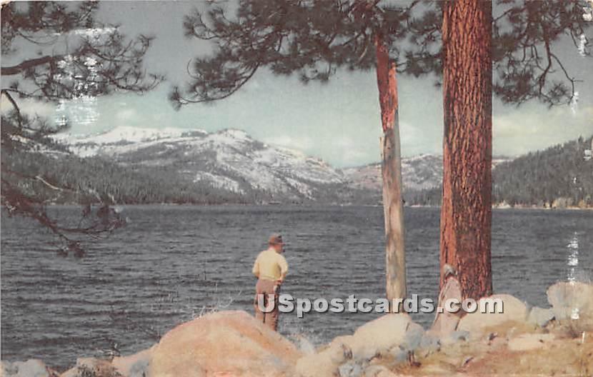Donner Lake - Lake Tahoe, California CA Postcard