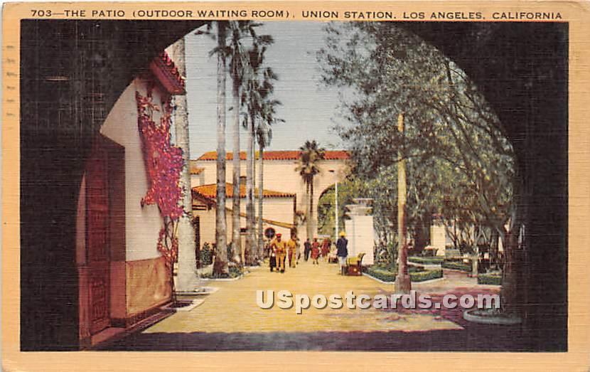 Patio, Union Station - Los Angeles, California CA Postcard