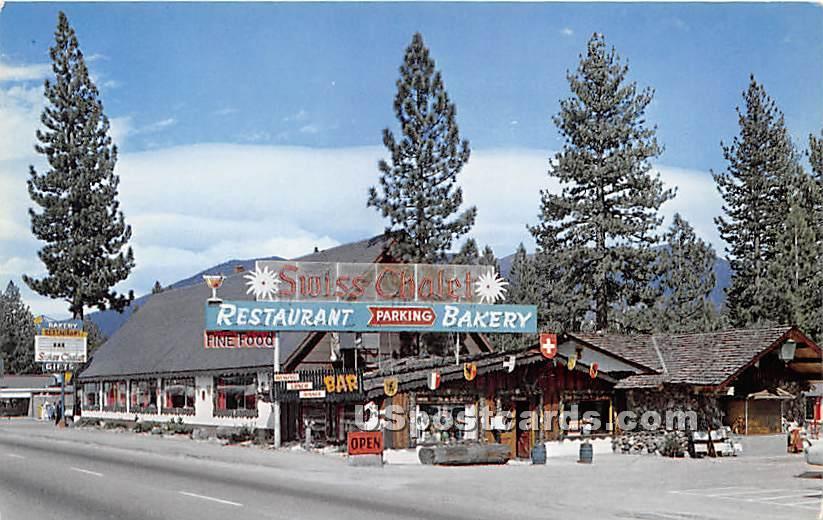 Swiss Chalet - Lake Tahoe, California CA Postcard