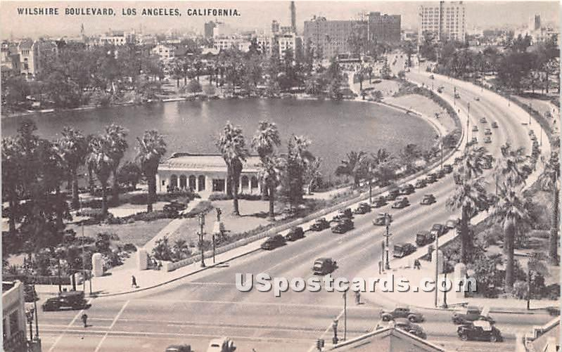 Wilshire Boulevard - Los Angeles, California CA Postcard