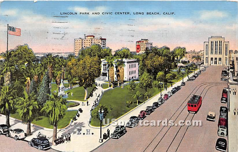 Lincoln Park & Civic Center - Los Angeles, California CA Postcard