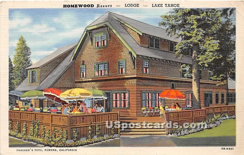 Homewood Resort, Lodge - Lake Tahoe, California CA Postcard
