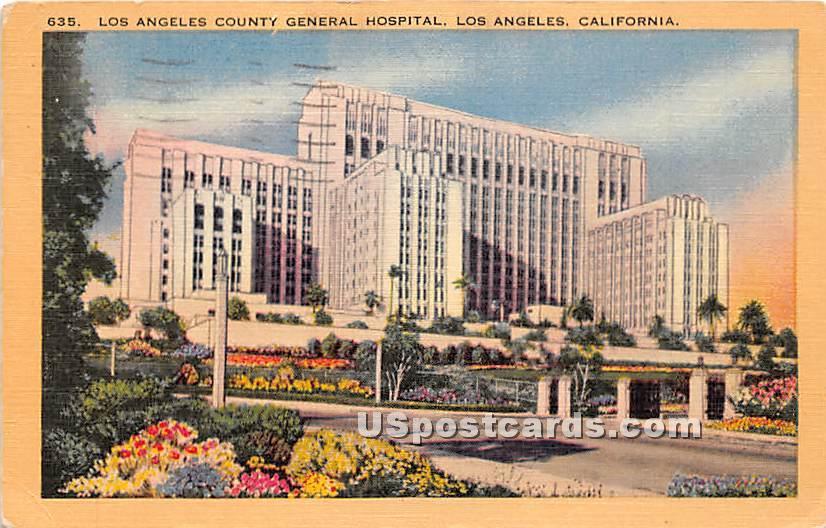 Los Angeles County General Hospital - California CA Postcard