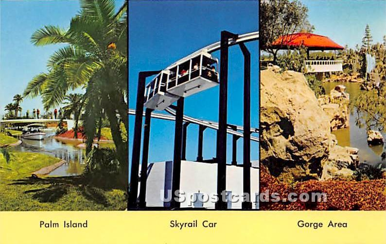 Palm Island, Skyrail Car - Los Angeles, California CA Postcard