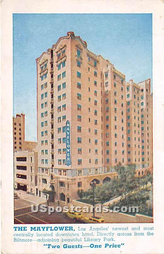 The Mayflower - Los Angeles, California CA Postcard