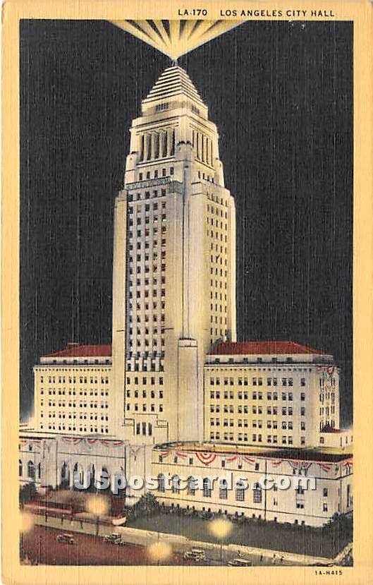 Los Angeles City Hall - California CA Postcard