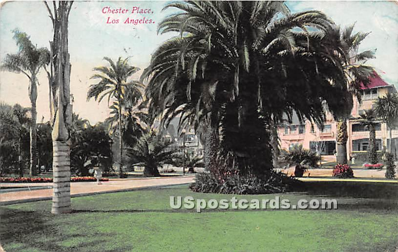 Chester Place - Los Angeles, California CA Postcard