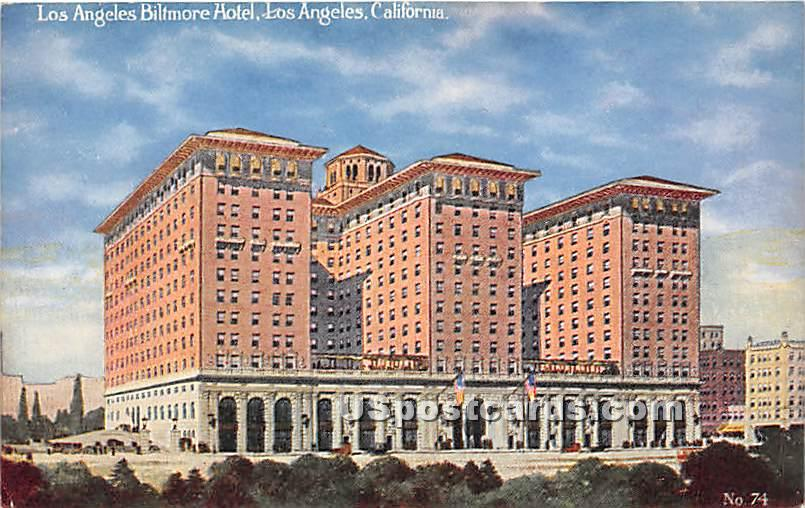 Los Angeles Biltmore Hotel - California CA Postcard
