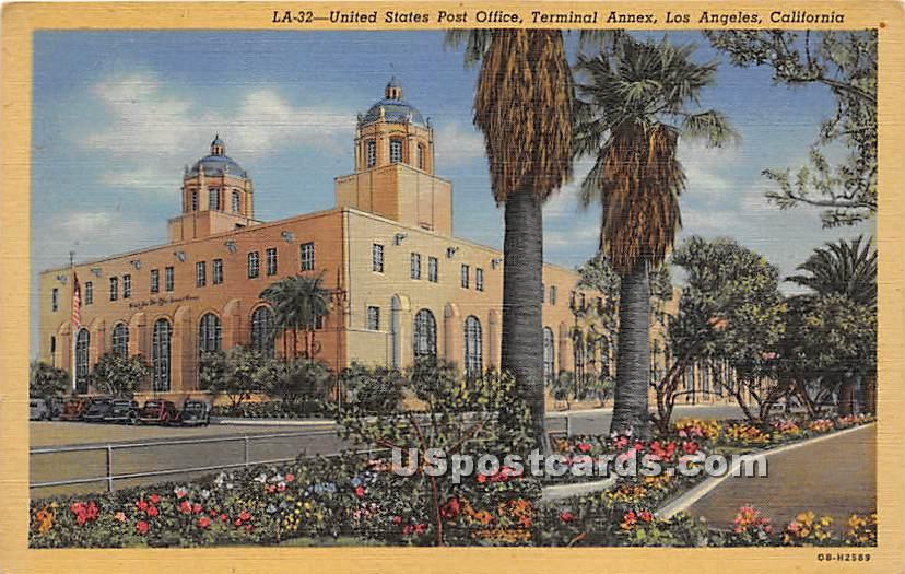 Unite States Post Office - Los Angeles, California CA Postcard