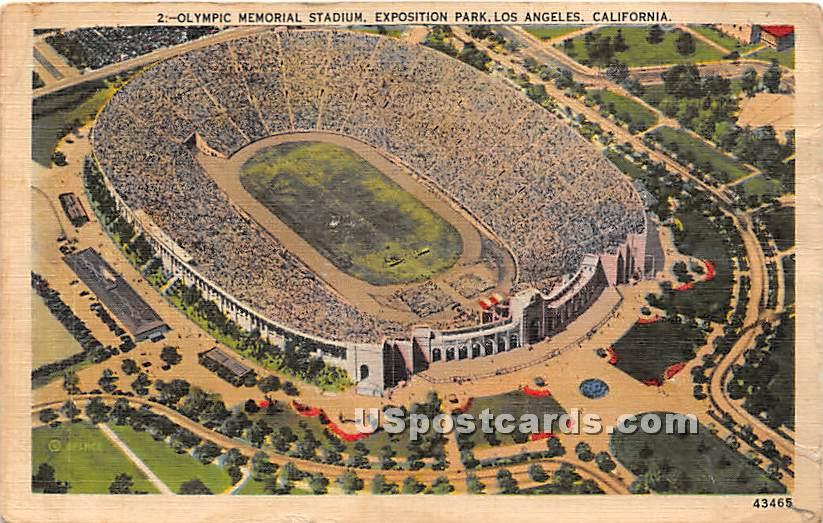 Olympic Memorial Stadium - Los Angeles, California CA Postcard