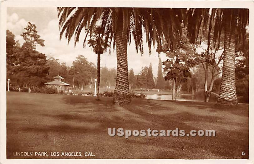 Lincoln Park - Los Angeles, California CA Postcard