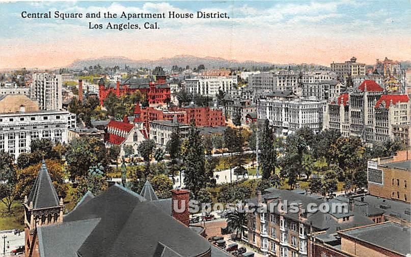 Central Square - Los Angeles, California CA Postcard