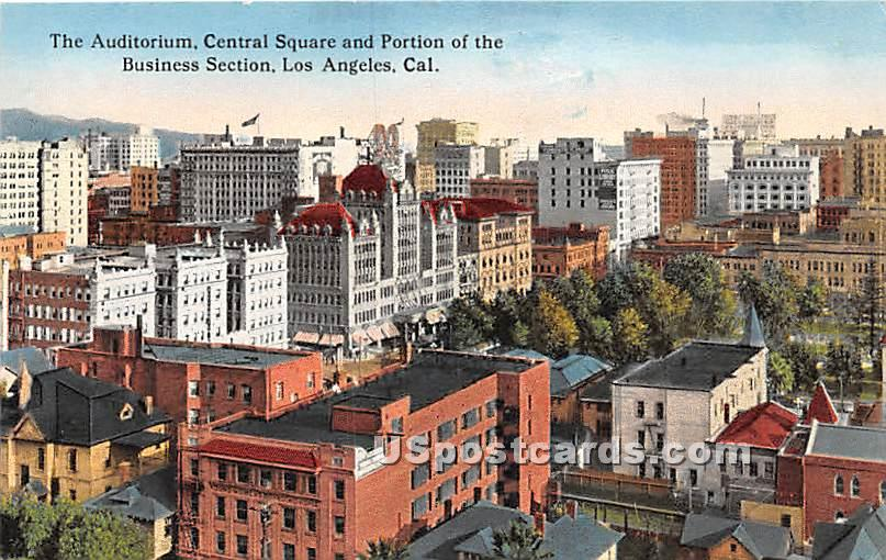 Auditorium, Central Square - Los Angeles, California CA Postcard