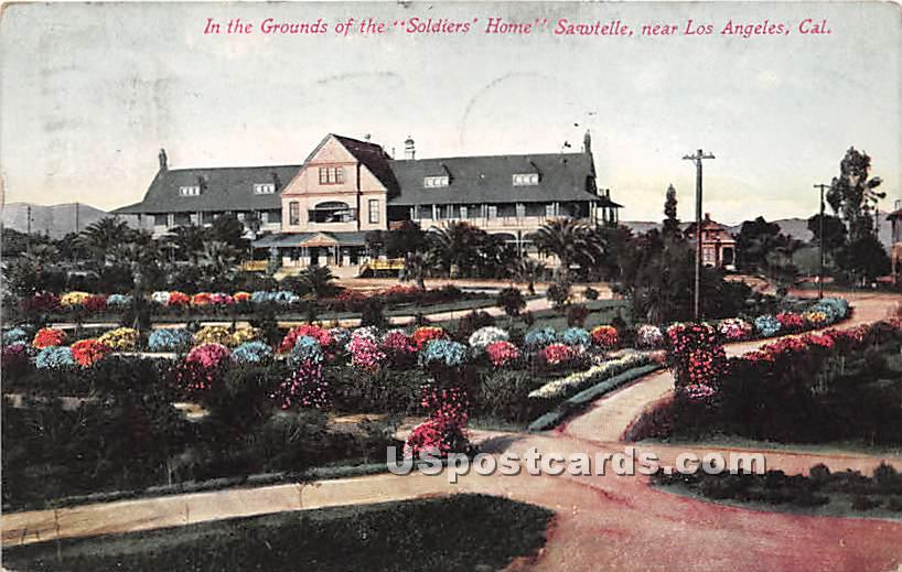 Soldiers' Home, Sawtelle - Los Angeles, California CA Postcard