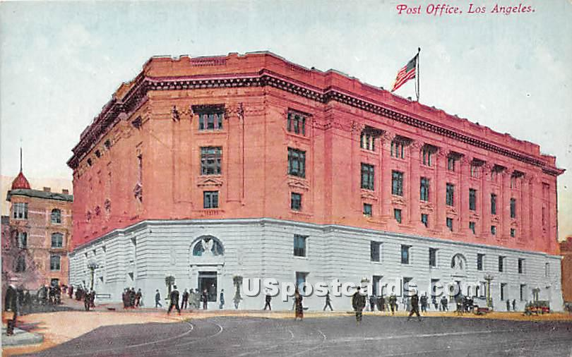 Post Office - Los Angeles, California CA Postcard