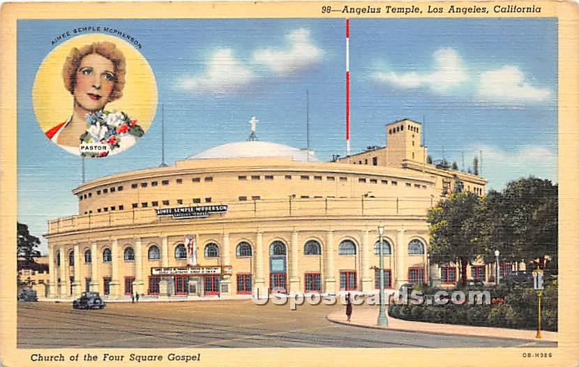 Angelus Temple - Los Angeles, California CA Postcard