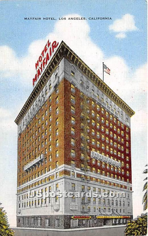 Mayfair Hotel - Los Angeles, California CA Postcard