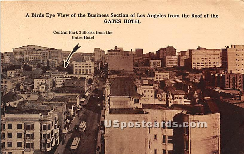 Gates Hotel - Los Angeles, California CA Postcard
