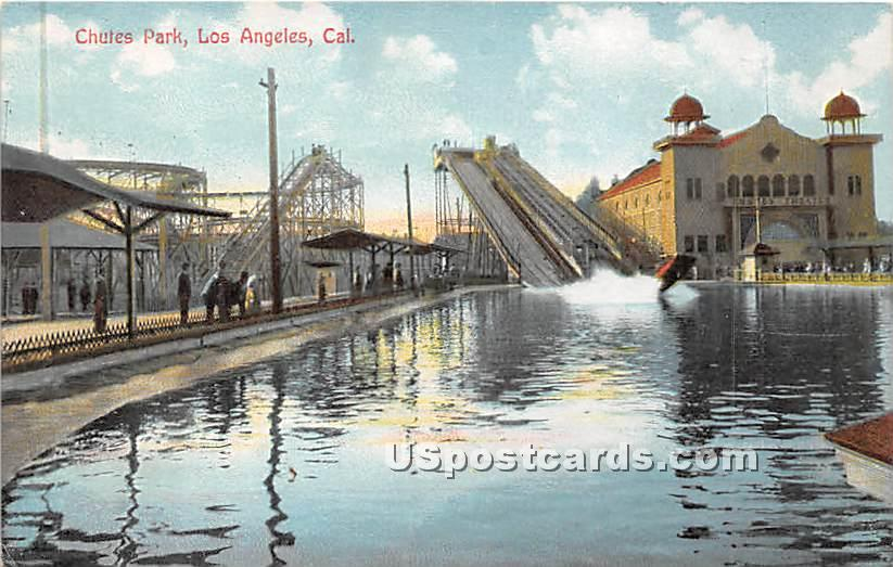 Chutes Park - Los Angeles, California CA Postcard