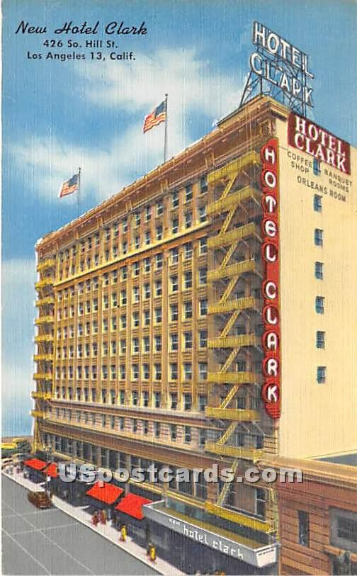 New Hotel Clark - Los Angeles, California CA Postcard