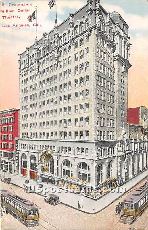 Gruaman's Million Dollar Theatre - Los Angeles, California CA Postcard