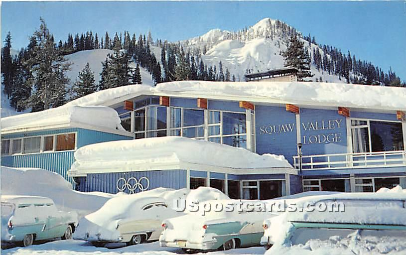 Squaw Valley Lodge - Lake Tahoe, California CA Postcard